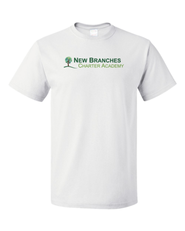 New Branches Color Logo Unisex White Blank with Depth