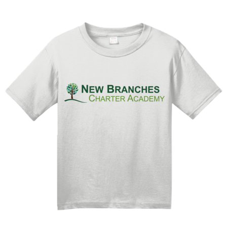 New Branches Color Logo Youth White Blank with Depth
