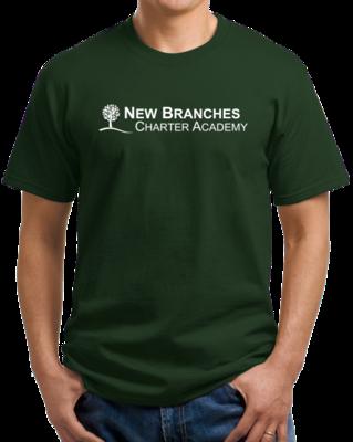 New Branches White Logo T-shirt