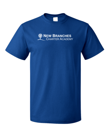 New Branches White Logo Unisex Royal Blank with Depth
