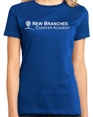 New Branches White Logo T-shirt