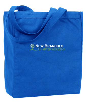 New Branches Green and White Logo Tote