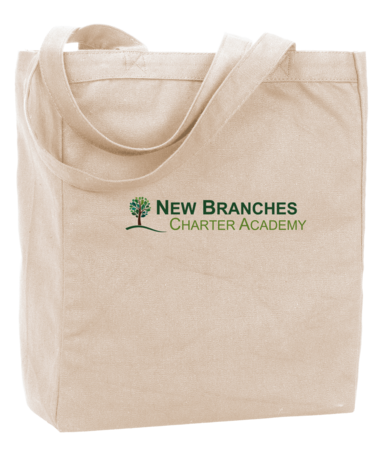 New Branches Full Color Logo Tote Natural Blank with Depth