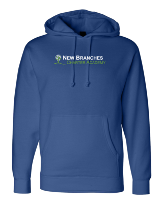 New Branches Green and White Logo Pullover Hoodie