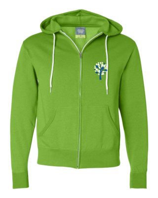 New Branches Blue and White Logo Zip Hood