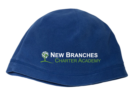 New Branches Logo Fleece Beanie Royal Blank with Depth