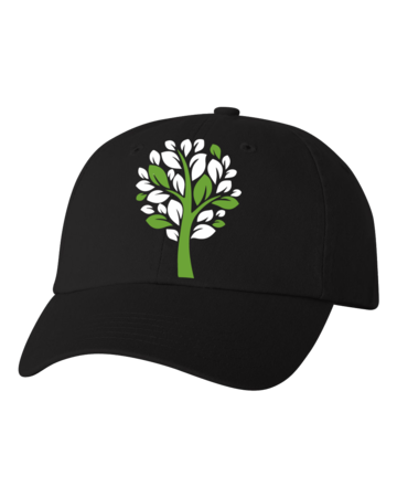 New Branches Logo Low Profile Hat Black Blank with Depth