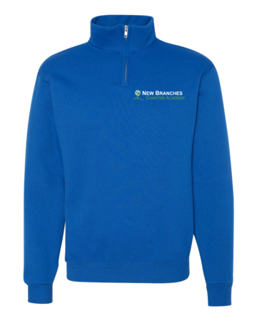 New Branches Logo Quarter Zip Royal Blank with Depth