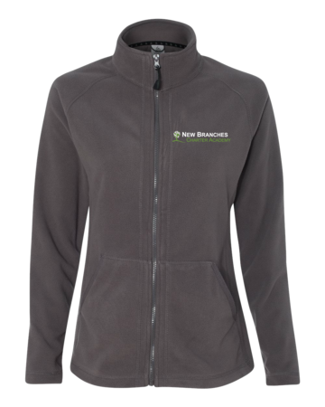 New Branches Logo Ladies' Microfleece Full-Zip Jacket Grey Blank with Depth