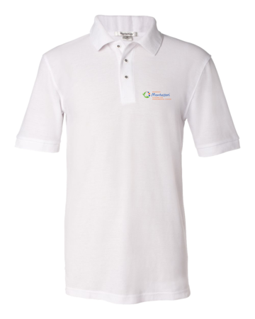 MMAEC Light Polo Unisex Pique Polo White Blank with Depth