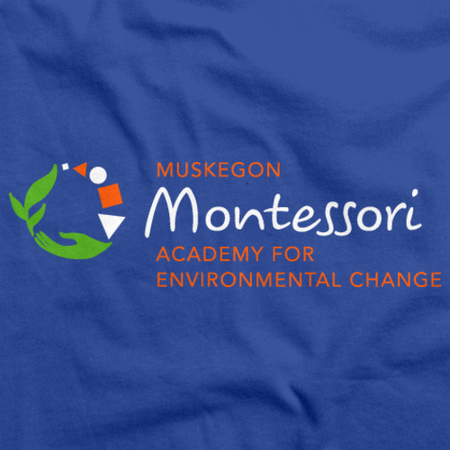 Muskegon Montessori Academy for Environmental Change Dark Polo Royal Art Preview
