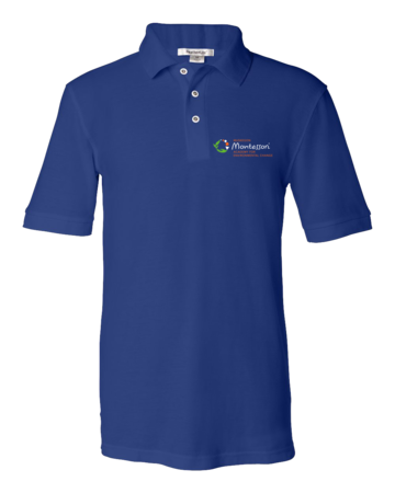 Muskegon Montessori Academy for Environmental Change Dark Polo Unisex Pique Polo Royal Blank with Depth