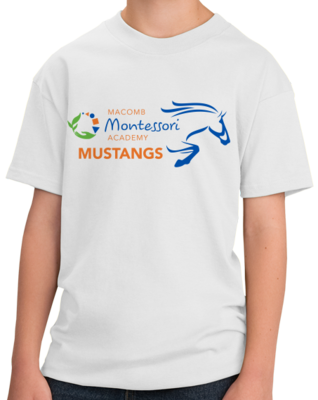 Macomb Montessori Academy Color Mustang T-shirt