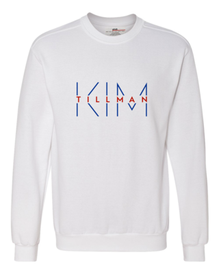 Kim Tillman Red and Blue Logo Crewneck Sweatshirt