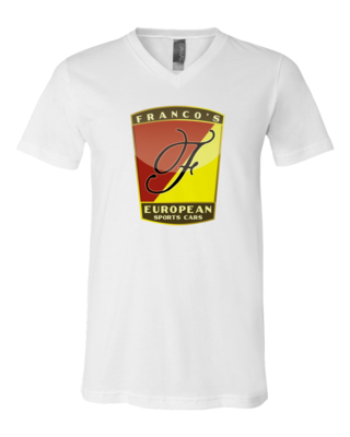 Franco's European White V-Neck T-shirt