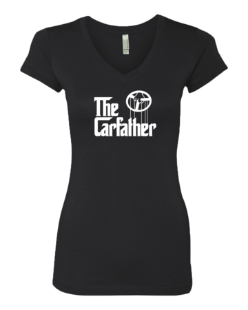 The Carfather Black V-Neck Sporty Girls V-neck Black Blank with Depth