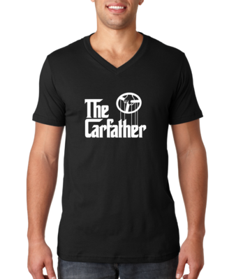 The Carfather Black V-Neck T-shirt