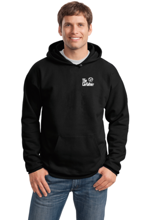 The Carfather Black Pullover Hoodie Black Stock Model Front 1