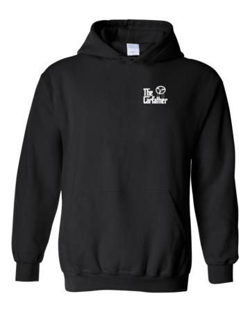 The Carfather Black Pullover Hoodie Black Blank with Depth