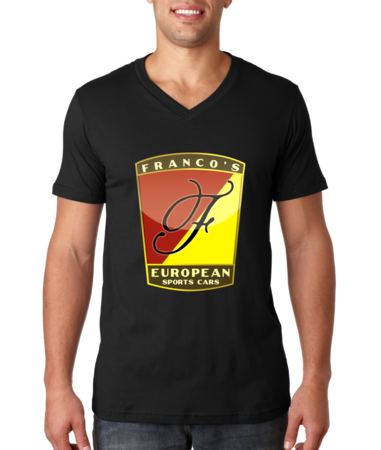Franco's European Black V-Neck V-neck Black Stock Model Front 1 Thumb