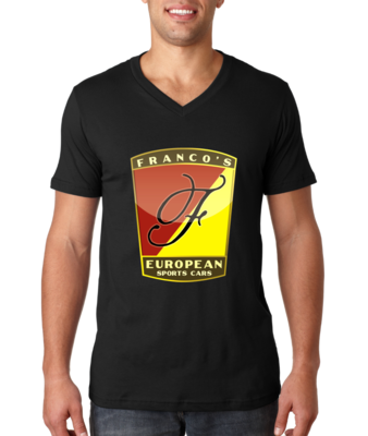 Franco's European Black V-Neck T-shirt