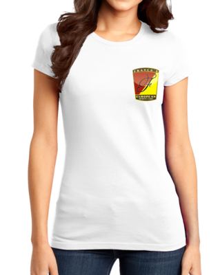 Franco's European Left Chest Logo White T-shirt