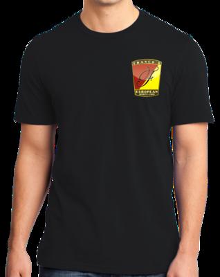 Franco's European Left Chest Logo Black T-shirt
