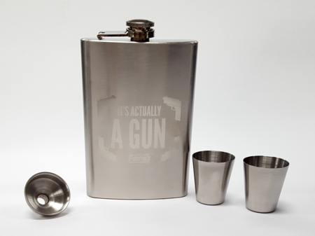 Flask and Shot Glass Set
