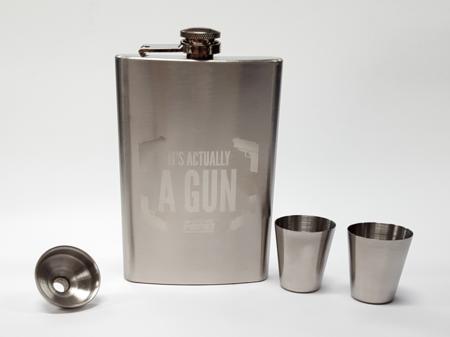 Flask and Shot Glass Set