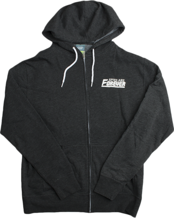 Spies Are Forever Zip Hood Front
