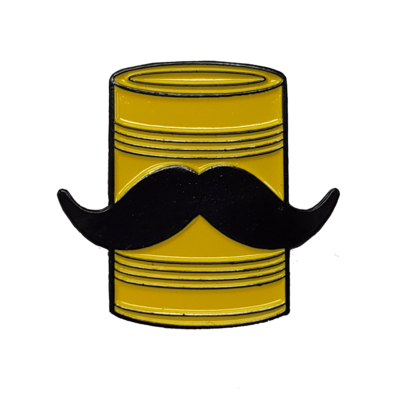 Tin Can Mustache Pin