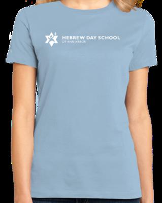 Hebrew Day School White Logo T-shirt
