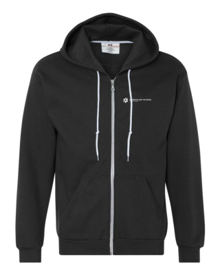 Hebrew Day School White Logo Zip Hood
