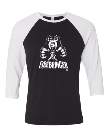 Firebringer GeekyCon 2016 Raglan Black Blank with Depth