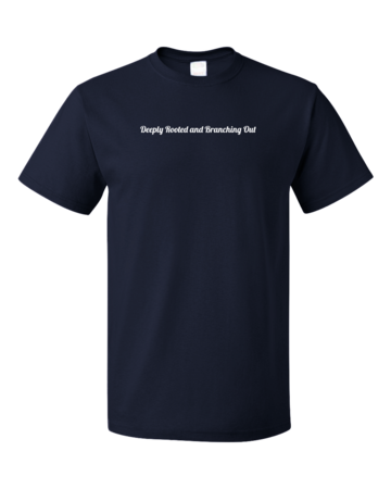 New Branches Deeply Rooted Unisex Navy Blank with Depth