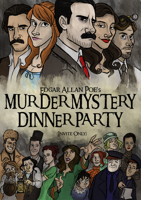 Murder Mystery Dinner Party Illustrated Poster
