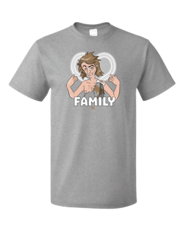 StarKid Firebringer Smelly Balls Family T-shirt Standard Grey Blank with Depth