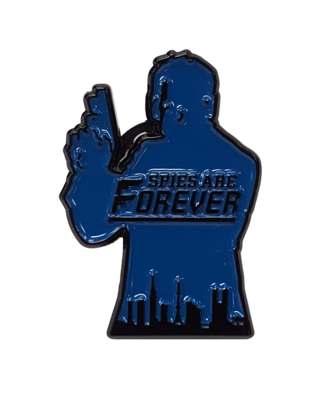 Spies Are Forever Logo Pin