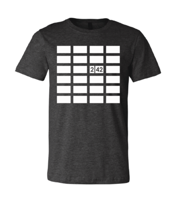 242 Grid Design T-Shirt