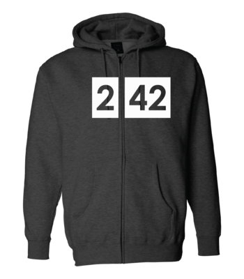 242 Logo Full-Zip Hooded Sweatshirt