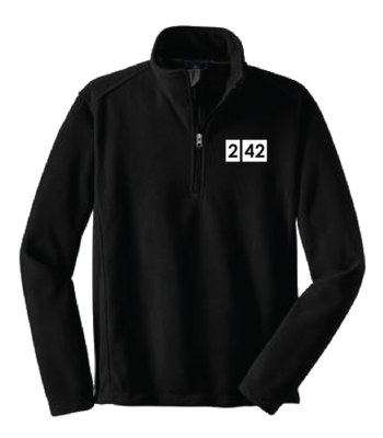 242 Logo Embroidered Fleece Quarter Zip