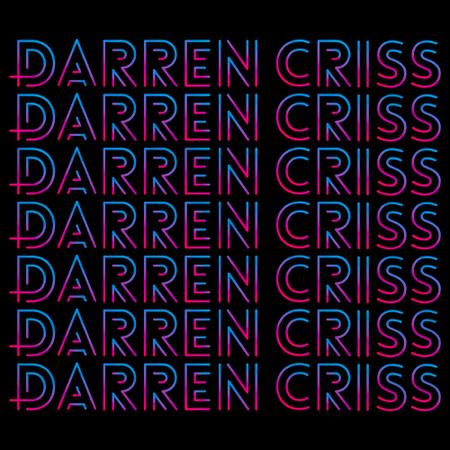 Darren Criss Repeating Name Black Art Preview
