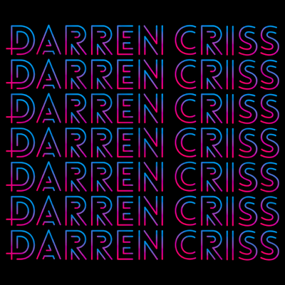 Darren Criss Repeating Name T-shirt