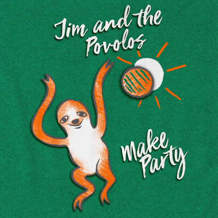 Jim and the Povolos - Make Party Sloth Heather Kelly Art Preview