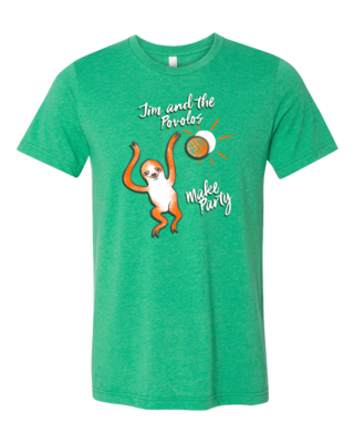 Jim and the Povolos - Make Party Sloth T-shirt