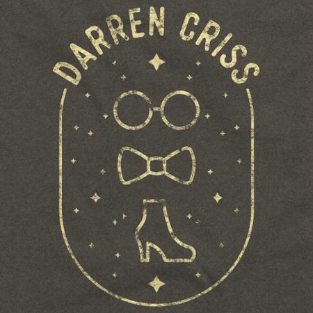 Darren Criss Elsie Fest 2017 - Glasses, Bowtie, Shoe Heather Charcoal Art Preview
