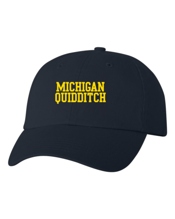 Michigan Quidditch Low Profile Hat Navy Blank with Depth