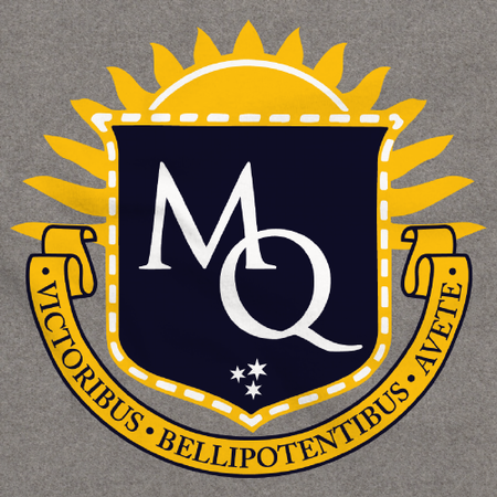 Michigan Quidditch Logo Pullover Grey Art Preview