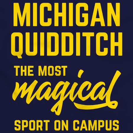 Michigan Quidditch Magical Sport Navy Art Preview