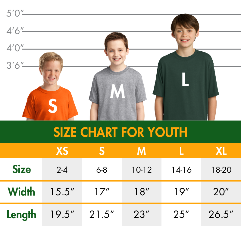 Youth sizechart